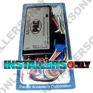 PAC AAI GM12 RCA AUX INPUT ADAPTER iPOD iPHONE DVD