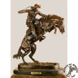 BRONCO BUSTER  by Frederic Remington Bronze Handcast Sculpture w