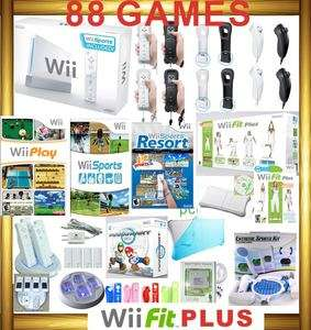 NINTENDO WII CONSOLE+FIT PLUS+MARIO KART+4 SPORTS GAME 045496880491