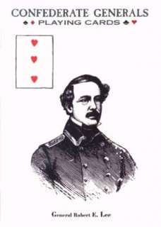 Confederate Generals Civil War Playing Cards