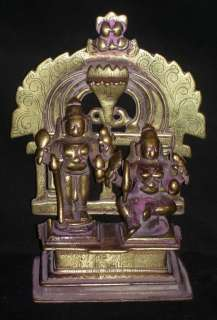 Indian Ritual Bronze God Shiva And Goddess Shakti ( Very Rare