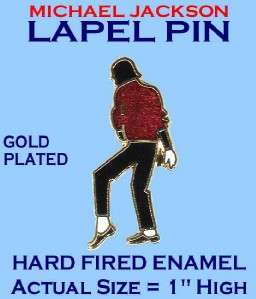 MICHAEL JACKSON HARD FIRED ENAMEL GOLD PLATED LAPEL PIN