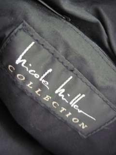NICOLE MILLER COLL Black Gold Canvas Tote Bag Handbag