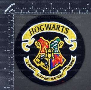 D545 Harry Potter HOGWARTS SCHOOL Crest Iron On Patch