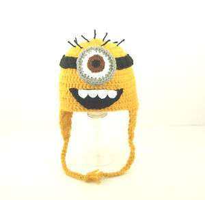 Minion Earflap Hat Despicable Me Handmade Send Size