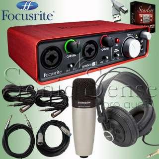 Focusrite Scarlett 2i2 USB Audio Recording Interface Headphones