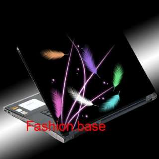 COLOR FEATHERS NOTEBOOK LAPTOP COVER SKIN STICKER DECAL