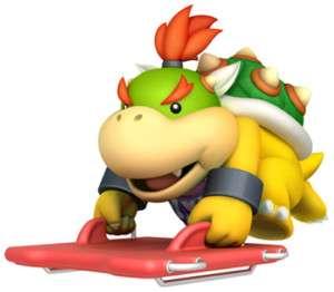 Sticker Decal   Super Mario Bros Bowser Jr Wii CA1