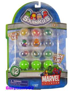 SQUINKIES Marvel HULK IRON Man WOLVERINE Figure Toy MV2