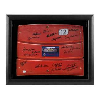 Mets Team Autographed Framed Red Shea Stadium Seat