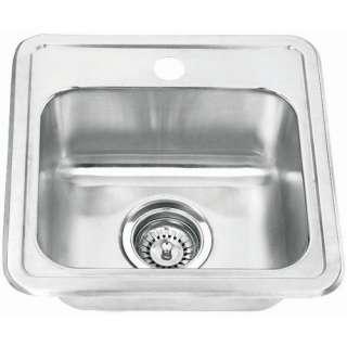 Yosemite Home Decor Stainless Steel Topmount Single Bowl Bar Sink
