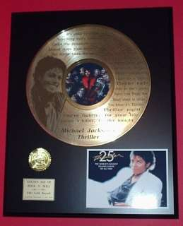 MICHAEL JACKSON 24kt GOLD LP RECORD LIMITED EDITION