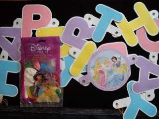 DISNEY PRINCESS HAPPY BIRTHDAY PARTY BALLOONS & BANNER DECORATIONS