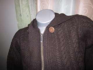 SMARTWOOL 100% MERINO WOOL SKI Cardigan Sweater Womens S HOODIE BROWN