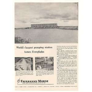 1955 Lake Okeechobee FL Pump Station Fairbanks Morse Print