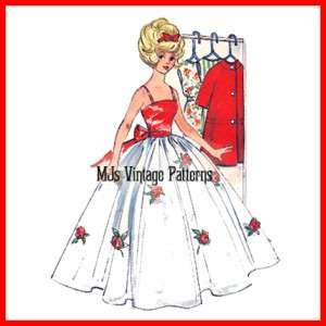 Vintage Doll Clothes Pattern ~ Barbie + closet, hangers