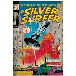 Marvel Comics Retro Silver Surfer Comic Book Cover #8, the Ghost