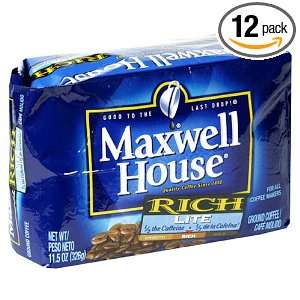 Maxwell House Coffee Rich Lite Ground Coffee, 11 Ounce Bags (Pack of