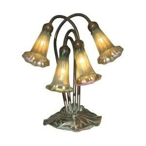 Tiffany 1704/269 Lily Table Lamp, Antique Bronze/Verde and Glass Shade