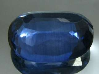 Fine 10.3Ct Synthetic Blue Sapphire Oval Faceted Gemstone