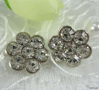 Sparkling Crystal Rhinestone Flower Buttons #S61