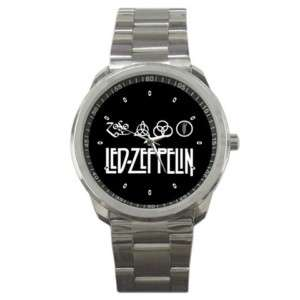 Led Zeppelin Heavy Metal Rock Band Custom Metal Watches