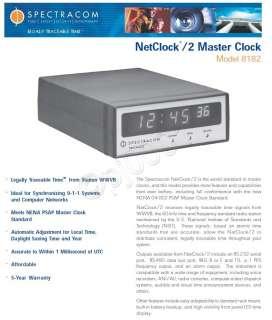 NetClock/2 8182 WWVB LED Master Atomic Clock Receiver IRIG B RS 232