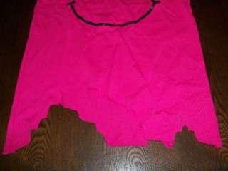 Punk Rock Pink Tee Smiley Star Abbey Dawn Shirt Size L