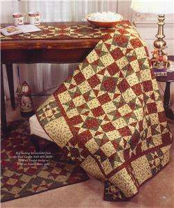 CHRISTMAS ~ TABLE RUNNER & LAP QUILT ~ PATCHWORK QUILT PATTERN