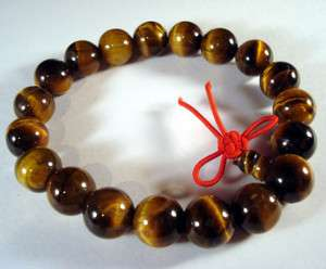 Tiger Eye Gem Tibet Buddhist Prayer Beads Bracelet Mala