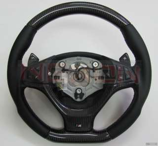 BMW E70 X5 E71 X6M Custom Carbon Steering Wheel+Carbon DCT Paddles