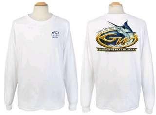 Grady White Boats Marlin Design White L/S T Shirt Large