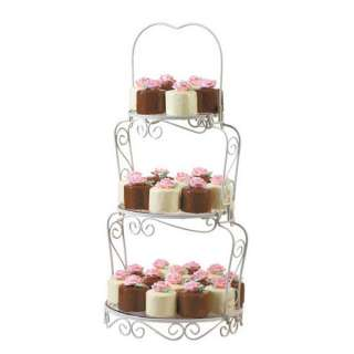 wilton 2 tier floating cake stand white 9 high 6 10 round cakes. Black Bedroom Furniture Sets. Home Design Ideas